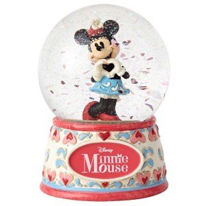 Minnie sweetheart water globe Jim Shore