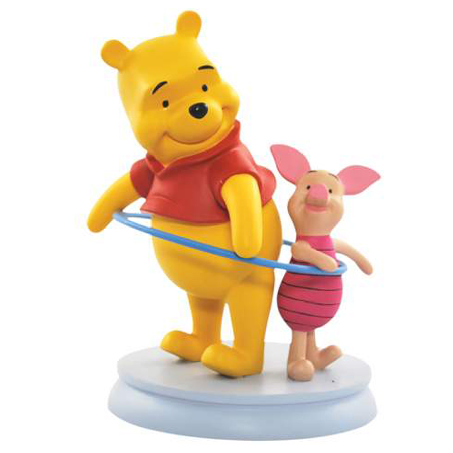 Pooh and Piglet with Hula Hoop
