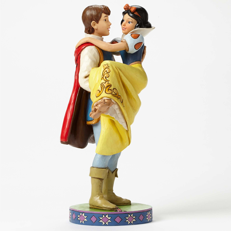 Prince holding Snow White side view