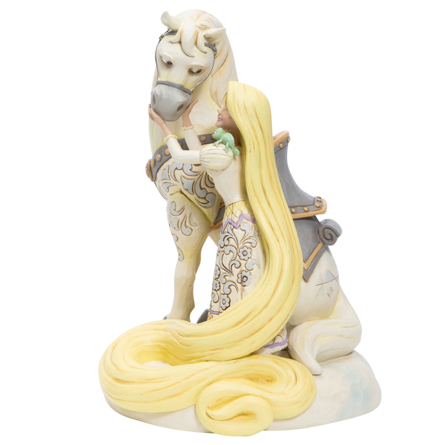 Rapunzel White Woodland by Jim Shore side-view