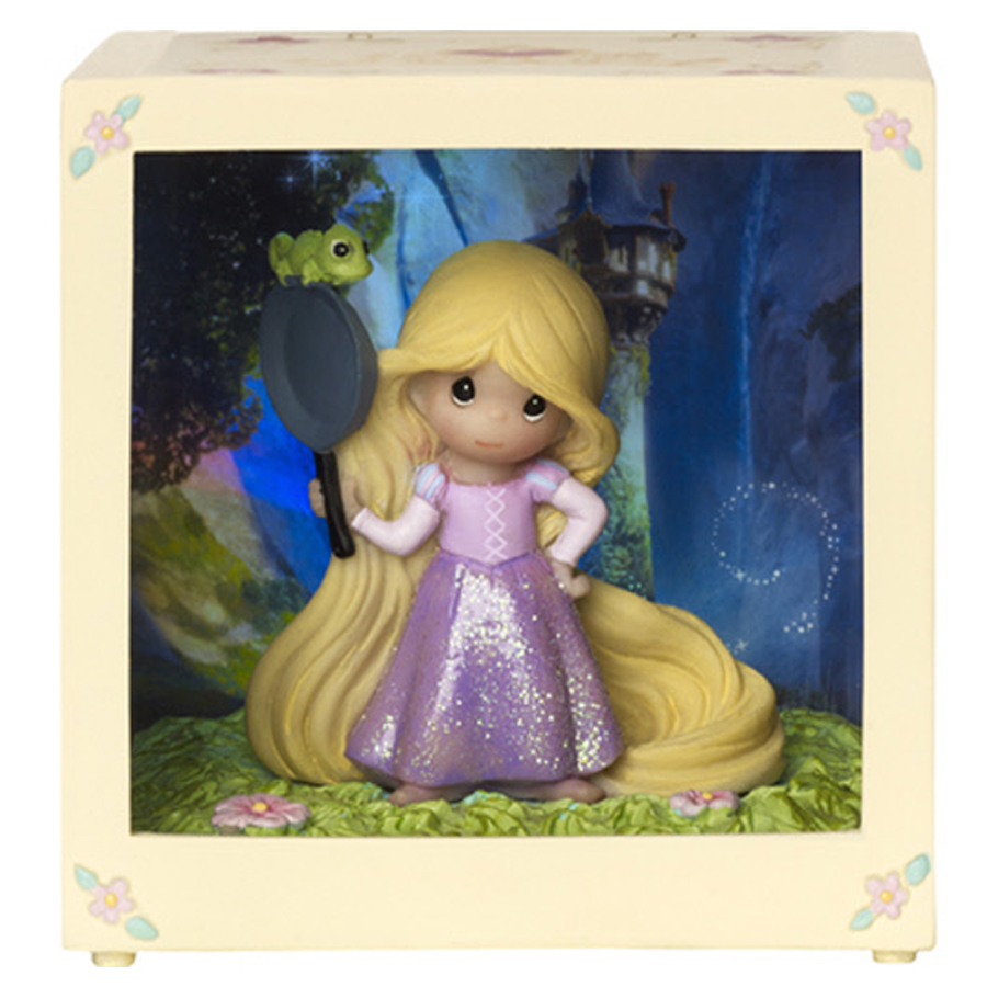 Rapunzel lighted shadow box