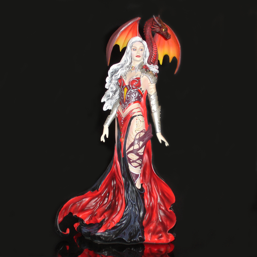 Nene Thomas Severille figurine of a Woman with Dragon Front
