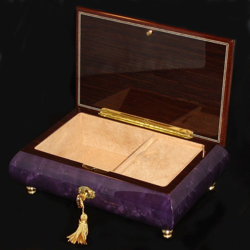 Italian-Musical-Jewelry-Box-02CVM-Purple-opened