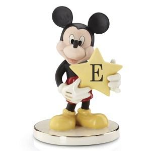 Mickey-figurine-Shining-Star-letter-E-Lenox