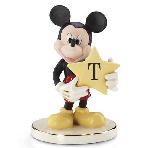 Mickey-figurine-Shining-Star-Letter-T-Lenox