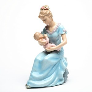 Mom-and-Baby-Girl-musical-figurine