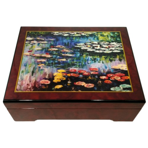 Monet-Water-Lillies-Musical-Jewelry-Box