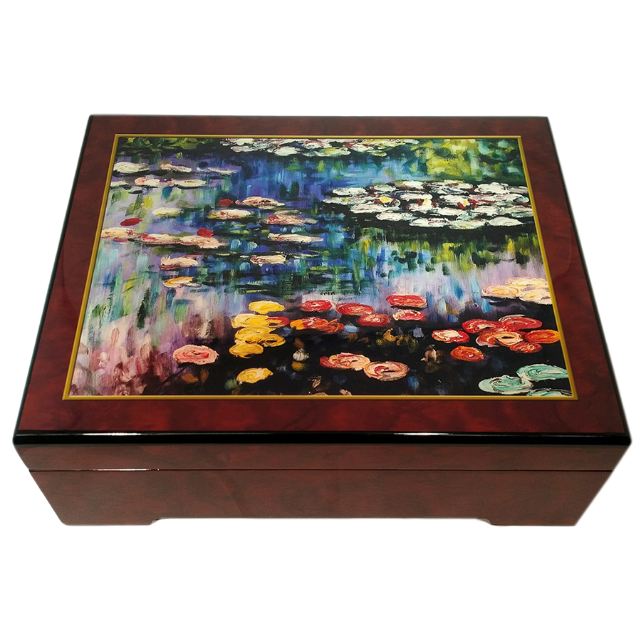 Monet-Water-Lillies-Musical-Jewelry-Box