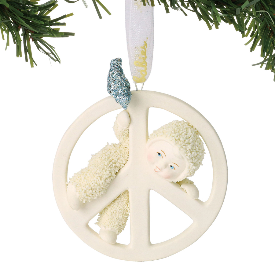 Snow Baby Peace Baby Ornament