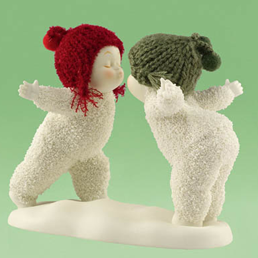 Snow Baby Pucker Up figurine