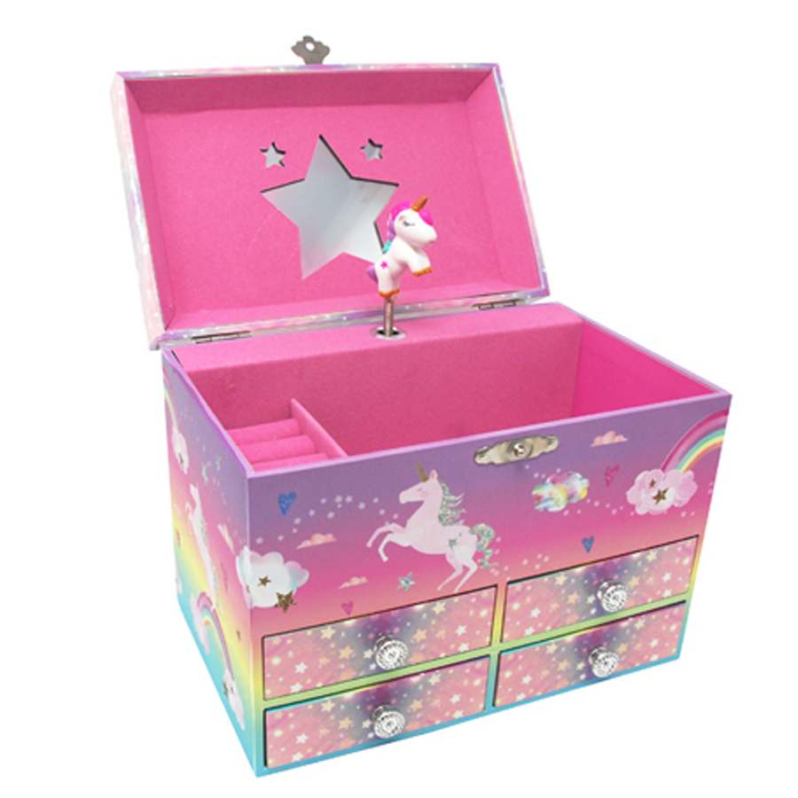 Unicorn-Cotton-Candy-Musical-Jewelry-Box-medium-open