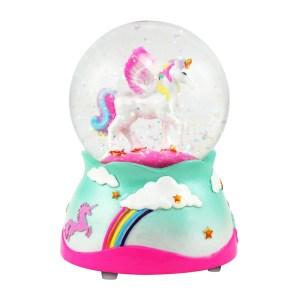 Pegasus Unicorn Musical Snow Globe
