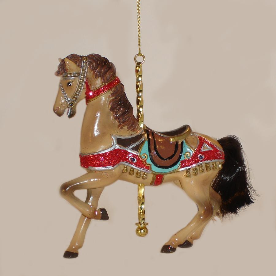 Tan-Carousel-Ornament-E0264-C