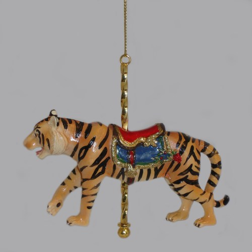 Tiger-Carousel-Ornament