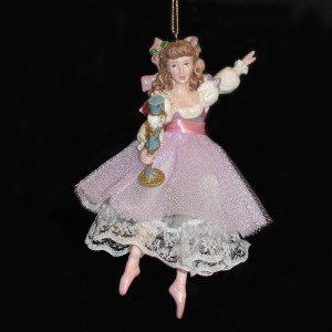Clara-with-Nutcracker-ballet-ornament-front-view