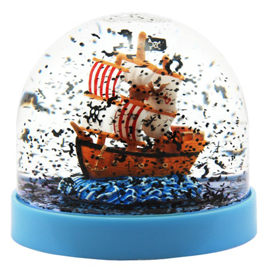 Acrylic-Pirate-Ship-Snow-Globe