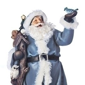 Blue-Santa-Bird-House-Close-Up