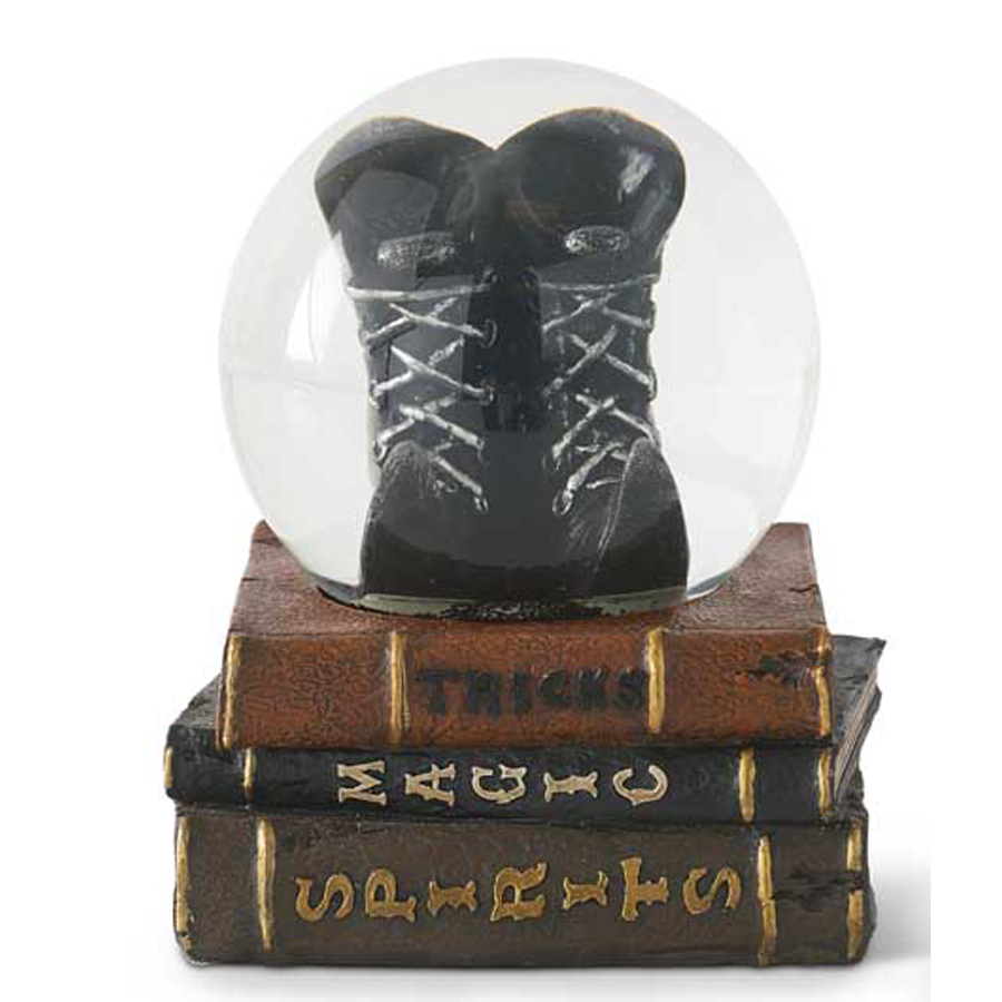 Witch's-Boots-on-Books-Snow-Globe