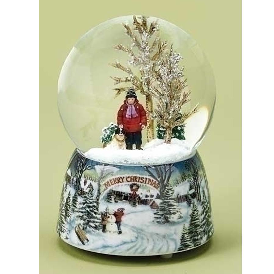 Boy-with-Dog-musical-snow-globe