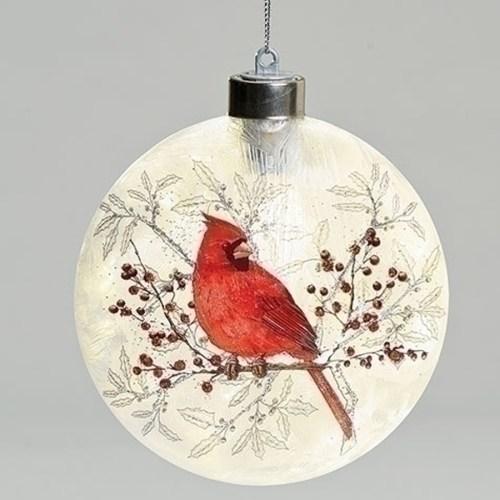 Cardinal-Flat-Glass-Ornament