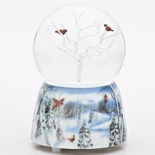 Cardinals-Tree-Snow-Globe-Blue-Base