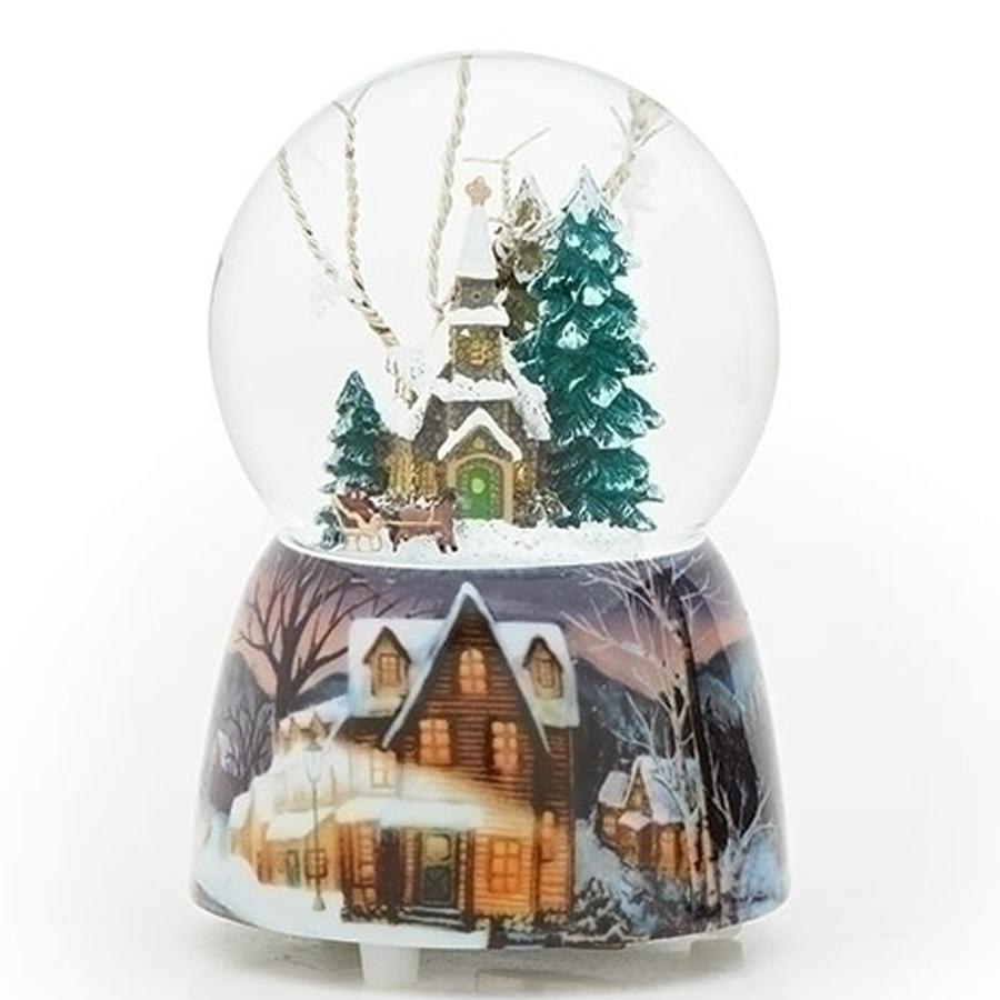 Church-Sleigh-Snow-Globe