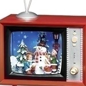 Retro-TV-Snowman-Children-close-up