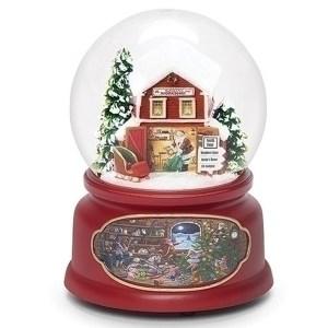 Santa-Barn-Snow-Globe