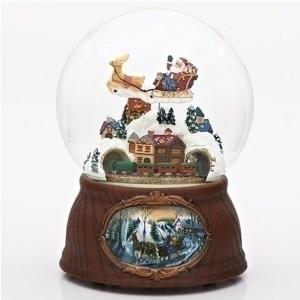Santa-Over-Village-Snow-Globe