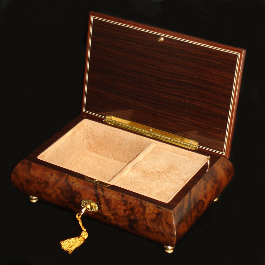 Italian-Inlay-Jewelry-Box-02A-Burl-Walnut-open