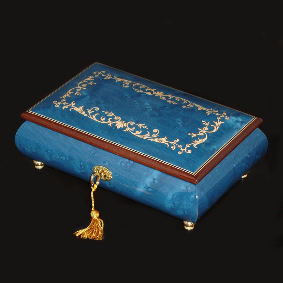 Italian-Inlaid-Musical-Jewelry-Box-Dark-Blue