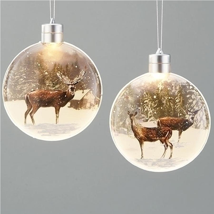 Glass-Deer-Ornaments