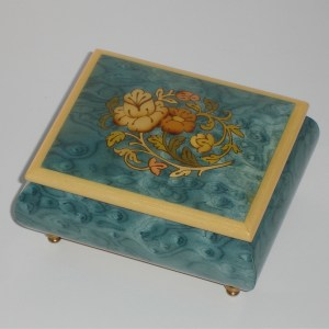 Italian-Inlay-Musical-Jewelry-Box-Light-Blue