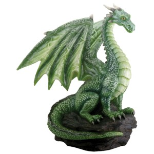 Green-Dragon-on-Rock-Small