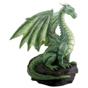 Green-Dragon-on-Rock-Small