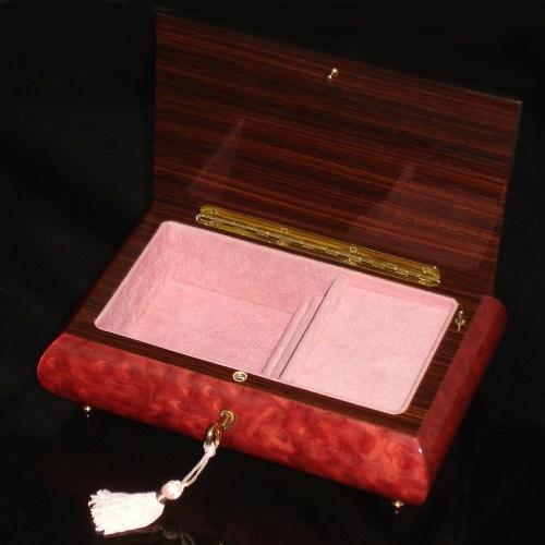 Italian-Inlaid-Jewelry-Box-Love-Doves-Wine-Red-open