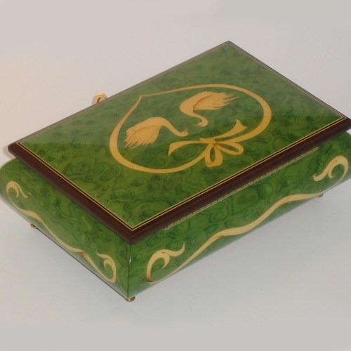 Italian-Inlay-Swans-and-Heart-Green-back-view