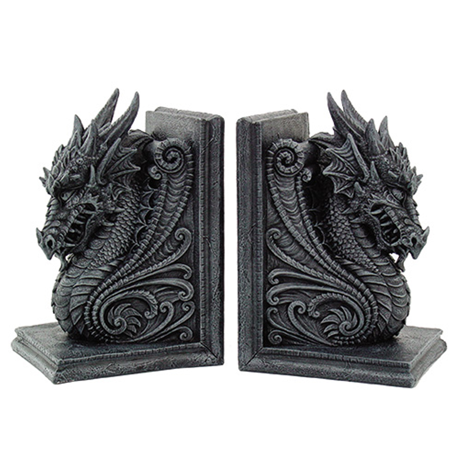 Dragon-Bookend-Set