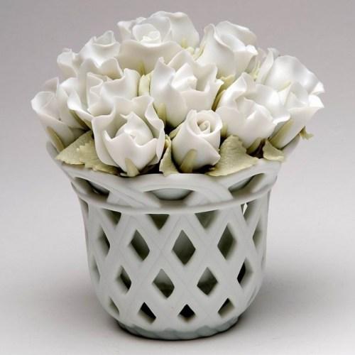 White-Roses-Musical-Flower-Basket