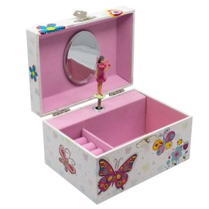 Butterfly-Children's-Musical-Jewelry-Box-open