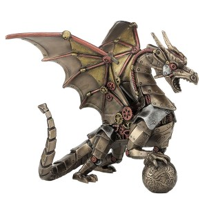 Steampunk-Dragon-and-Sphere