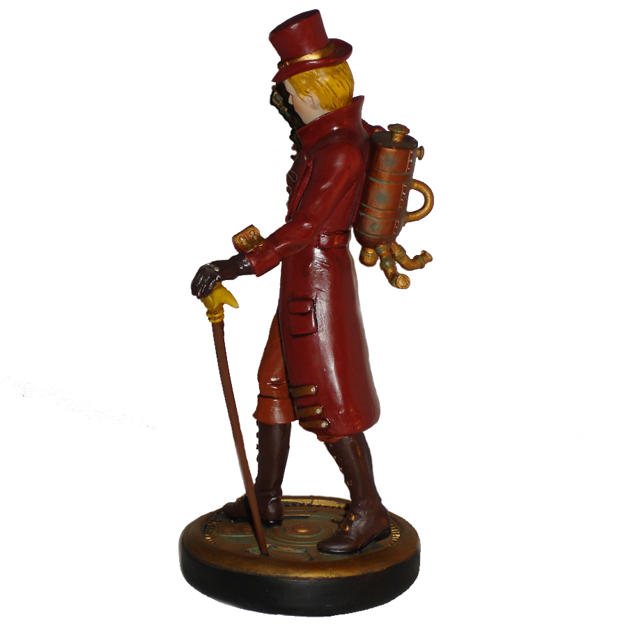 Steampunk-Girl-figurine-left-view
