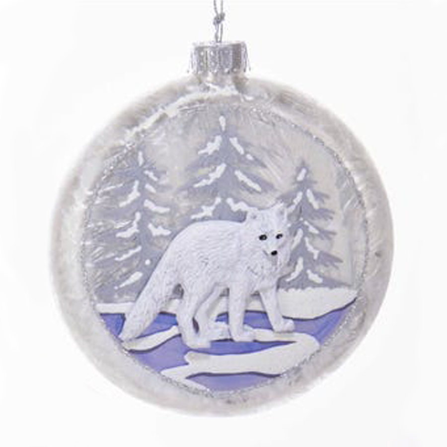 Wolf-Glass-Ornament