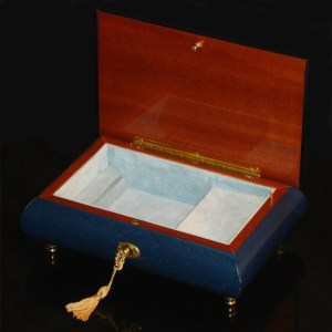 Italian-Inlay-Musical-Jewelry-Box-Butterfly-Blue-open