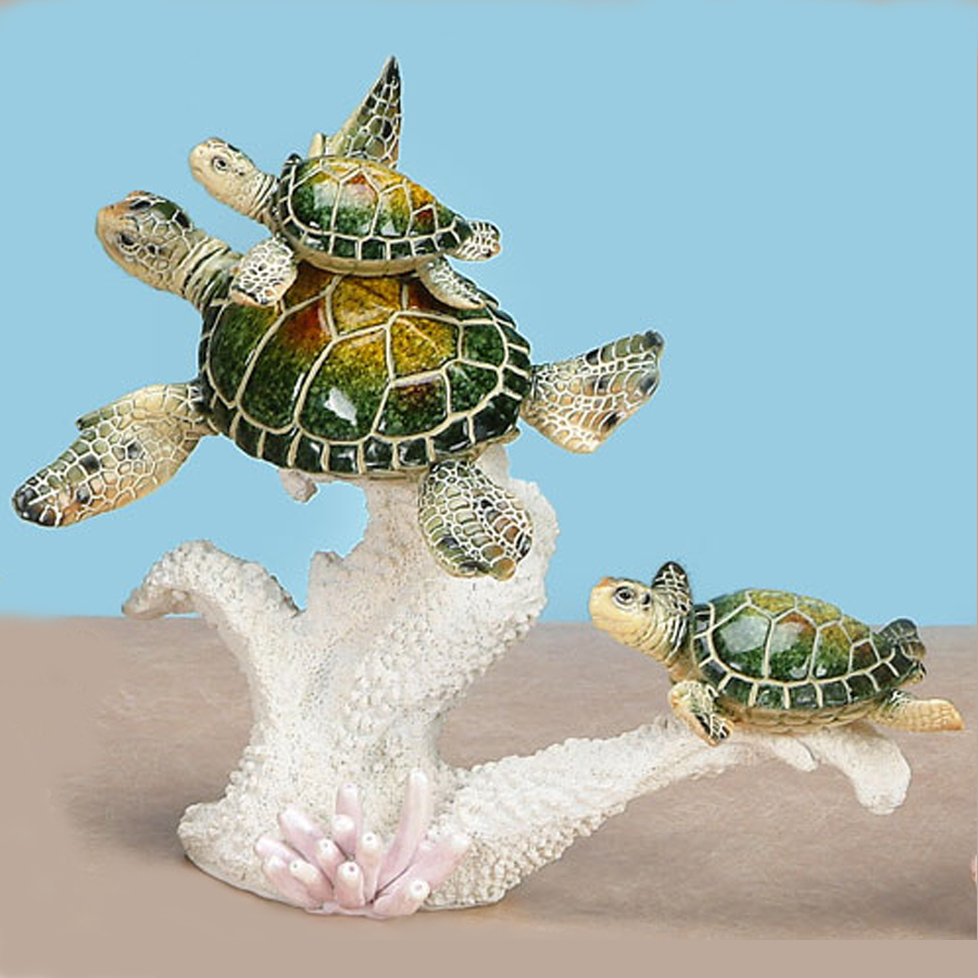 Green-Turtle-Family-on-coral