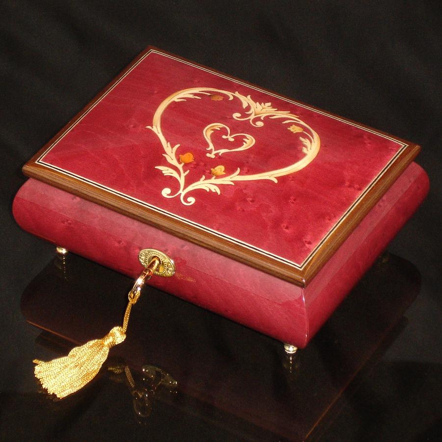 Italian-Inlay-Musical-Jewelry-Box-Heart-Wine-Red