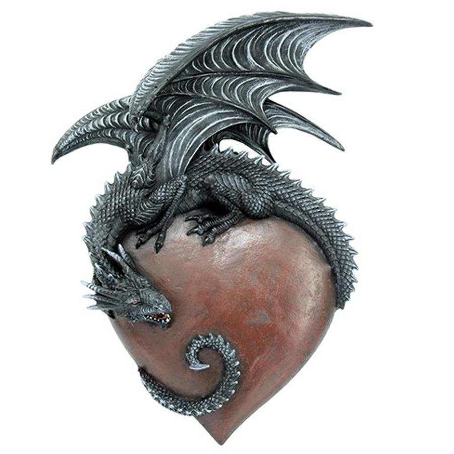 Dragon-on-Heart-Wall-Art