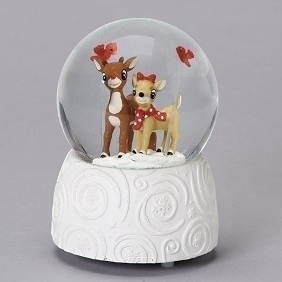 Rudolph-and-Clarice-White-Snow-Globe