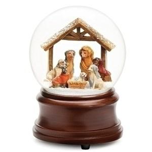 Dog-Nativity-Snow-Globe