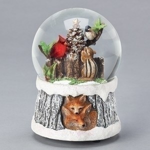 Fox-Birds-Chipmunk-snow-globe
